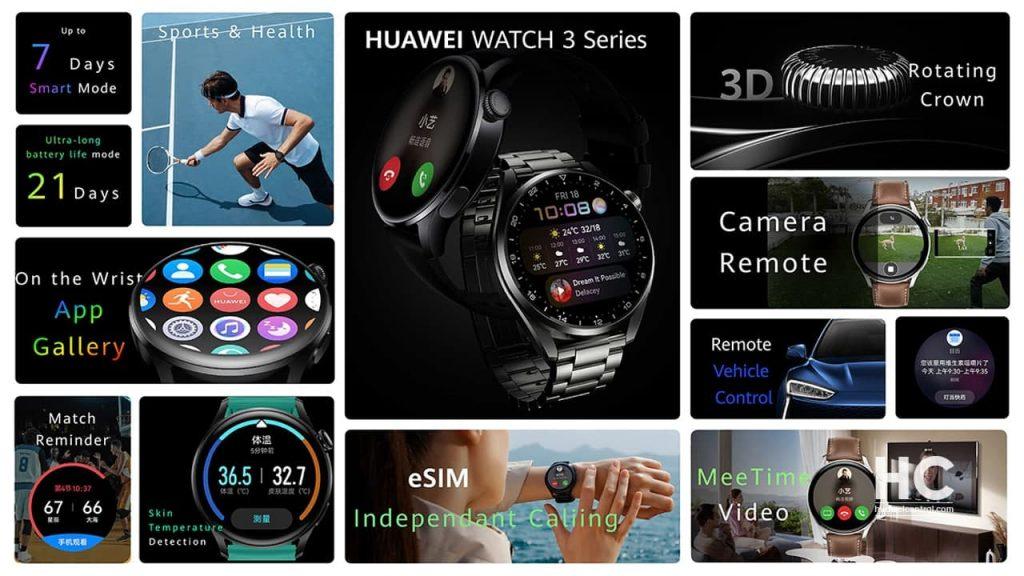 A Huawei Watch 3 óra AppGallery-vel érkezik, hogy további alkalmazásokat tölthess le. Előtelepített alkalmazások, beleértve a tevékenységrekordokat, az időjárást, a stoppert, az ébresztést, az időzítő.