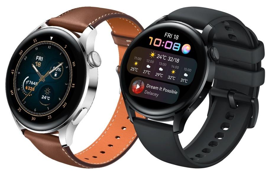 HUAWEI Watch 3 okosóragombokkal, forgatható koronákkal és színes kijelzővel
