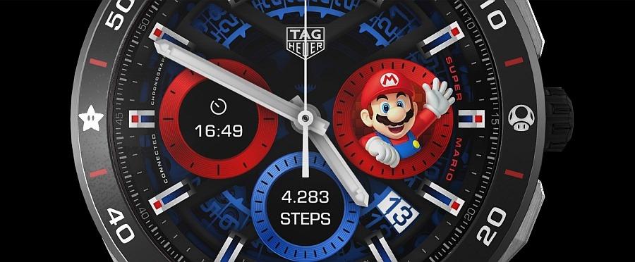Super Mario okosóra számlap